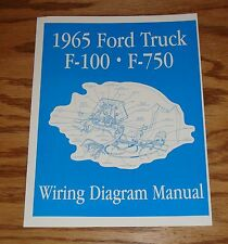 1965 Ford Truck F100 - F750 Wiring Diagram Manual Brochure 65