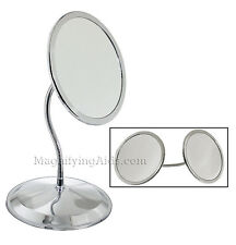 Zadro 10X / 5X DoubleVision Magnifying Mirror with Suction Cups