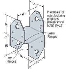 Simpson Strong-Tie BCS2-3/6 ~ 2-3x6 Post Cap Galvanized
