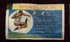 BOB BEAMON - LONG JUMP  - 1981 Topps Thirst Break wrapper #34