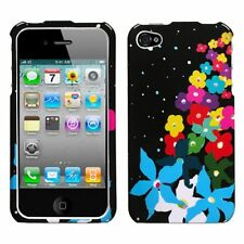 Rainbow Flowers Hard Case Cover for Apple iPhone 4 4G