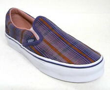 Vans Classic Slip-On Pinstripe Plaid Purple, Women's Skate shoe size 5 (new)