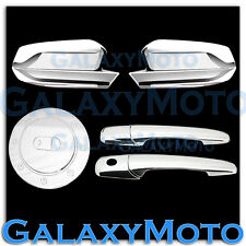 10-13 Ford Mustang Triple Chrome Plated Mirror+2 Door handle+GAS TANK Cover Trim