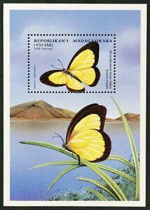 B145 MADAGASCAR 1998 Butterflies S/S #3 MNH