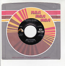 "José FELICIANO Vinyl 45T 7"" CALIFORNIA DREAMIN' - LIGHT MY FIRE - RCA 9550 RARE"