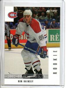 2002-03 BE A PLAYER MEMORABILIA RON HAINSEY ROOKIE