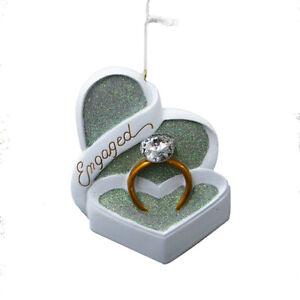 """Kurt Adler """"Engaged"""" Ring Christmas Ornament"""