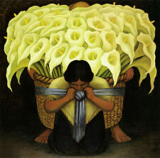 El Vendedor De Alcatraces  by Diego Rivera Giclee Canvas Print Repro