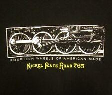 FORT WAYNE RAILROAD lrg T shirt Historical Society 765 steam Nickel Plate Road