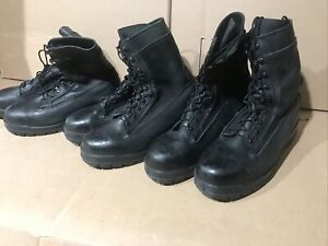 10.5 XW BELLEVILLE 360ST Black Steal Toe Leather Military Boots