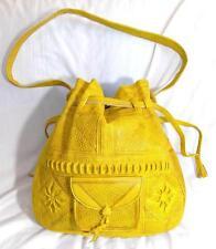 Hand Made NEU Fair Trade Boho Vintage Style Umhängetasche Leder aus Marokko