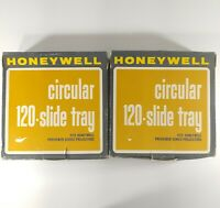 Honeywell Circular Slide Trays Lot of 2 120 2x2 Slides For Previewer Projectors