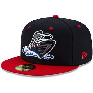 Stockton Ports New Era Theme Night On Field 59FIFTY Fitted Hat - Navy/Red