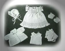 """Vintage Baby Doll 5 piece for 11"""" doll (Knitting pattern)"""