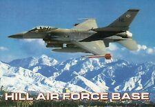 F-16 Fighting Falcon Military Airplane Hill Air Force Base Utah Plane - Postcard
