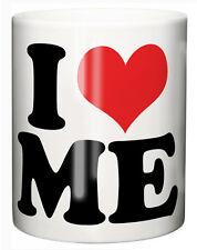 "Funny Mug Cup ""i Love Heart Me"" Tea Coffee Birthday Christmas Stocking Filler"