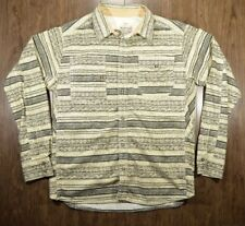 Burton Durable Goods Button Up Shirt Mens Size Med Beige Stretch Cotton