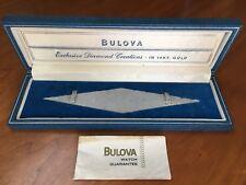 Vintage Bulova watch box case for diamond 14K gold watch