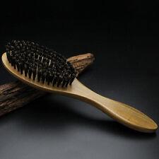 Hair Brush Paddle Boar Bristle Wooden Handle Handmade Straightening Beard Brush
