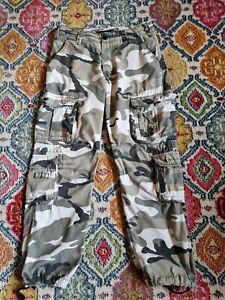 Surplus Tex Airborne Vintage Camo Cargo Trousers Grey Medium
