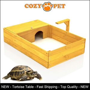 Tortoise Table by Cozy Pet Run Reptile House Playpen Hide Shelter Model TR02N