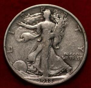 1918-S San Francisco Mint Silver Walking Liberty Half