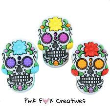 Azúcar Calaveras Vestido para arriba Novedad Craft Botones Día De Muertos Halloween Coser