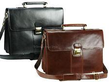 Visconti Large Luxury Genuine Leather Briefcase Shoulder Laptop Bag - 01775