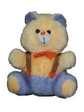 "Happy Mates 16"" Vintage Plush Teddy Bear Stuffed Animal Overalls Bow Tie"
