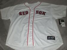 "RED SOX EMBROIDERED ""MAJESTIC AUTHENTIC"" SEWN HOME WHITE JERSEY MENS 3XL NEW"