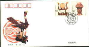 2004 CHINA-ROMANIA JOINT LACQUERWARE AND POTTERY FDC 1V