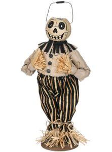 "NWT 16"" SKULL Bucket head Skeleton Jack O Lantern Halloween Decor"