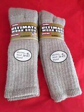 2 Pair Carolina Ultimate 40% Merino Wool TallOver Calf Work Sock Large 9-11 USA