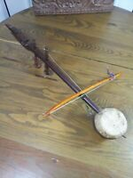 Antique Primitive Indonesian Coconut Stringed Instrument with Bow..Rare!!