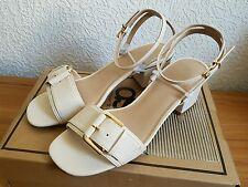 ASOS Pumps Heeled Sandals Creme UK7 Gr.40 Neu&Ovp