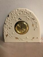 Lenox Cherry Blossom Clock New Very Pretty!24k Gold Trim Nice Gift!