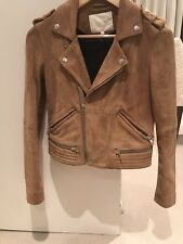 Maje brown goat suede Jacket French 36