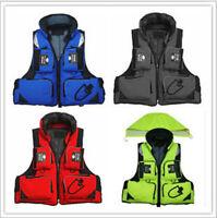 New Adult Buoyancy Aid Sailing Kayak Boating Life Jacket Jackets Vest 5 Colors