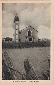 Aruba Netherlands - Catholic Church old sepia postcard
