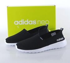 NIB Adidas Women's Neo Lite Racer Slip On Shoes Black 9 MED AW4083 Cloudfoam