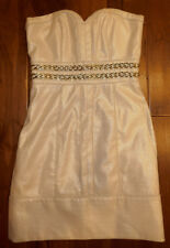 LAUNDRY BY SHELLY SEGAL STUNNING & ELEGANT COCKTAIL BEIGE GOLD DRESS SIZE 2