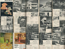 HOUSE & HOME 8-72 AUG 1972 AWARD MODERN HOUSE PLANS ATOMIC RANCH CONDOS KITCHENS