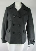 Maralyn & Me Charcoal Double-Breasted Pea-Coat Size Large