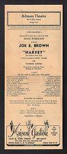 "Joe E. Brown ""HARVEY"" Mary Chase / Pulitzer Prize 1948 Los Angeles Broadside"