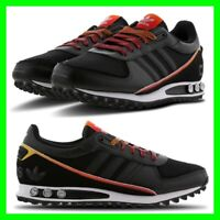 NEW Adidas LA Trainer 2.0 Mens UK Size 6.5-11.5 Trainers Black/Red Sneaker Shoes