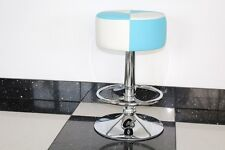 American Diner Retro Style Stool Chair Furniture Kitchen Blue White