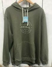 Men's Animal overhead hoodie 'late' size XXL OLIVE