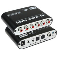 AC3,DTS Digital Optical Audio To 5.1 Channel Stereo Analog 6 RCA Converter~120dB