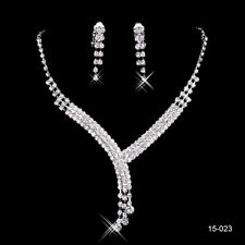 Bridal Party Earrings Necklace Rhinestone Formal Occasion Cocktail Jewelry Sets