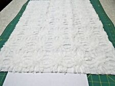 Vintage Hoffman Soft White WR Chenille Bedspread Quilting Craft Fabric   A 534